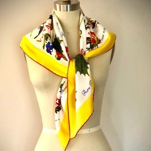 BNWT Canada silk twill scarf
